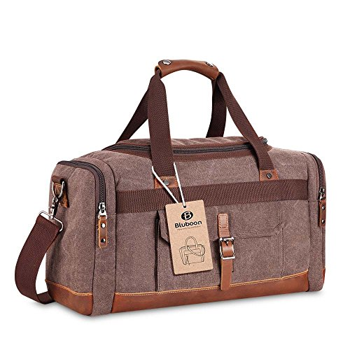 BLUBOON ボストンバッグ メンズ レディース ショルダー付 2way 旅行 バッグ キャンバス