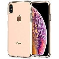 【Spigen】 スマホケース iPhone XS ケース/iPhone X ケース 5.8インチ TPU 全面クリア 超薄型 超軽量 リキッド・クリスタル 057CS22118 (クリスタル・クリア)