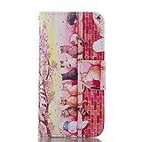 Samsung Galaxy S4 ケースSC-04E 手帳型 ケース 5インチ 専用カバー 財布型 pu レザー ケース カバー カード入り 横開き 可愛い オシャレ 人気 ギャラクシーS4 用 耐衝撃カバー 女性らしい ピンク 綺麗 花見中の猫 上絵 スタンド機能付き ソフト バック 携帯 ケース (Samsung Galaxy S4 SC-04E)