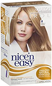 Clairol Nice'n Easy Permanant Hair Colour, 8 Medium Blonde, 1 c