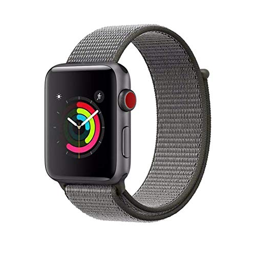 AIGENIU コンパチブル Apple Watch バンド、ナイロンスポーツループバンド Apple Watch Series4/3/2/1に対応 (42mm/44mm, ダークオリーブ)