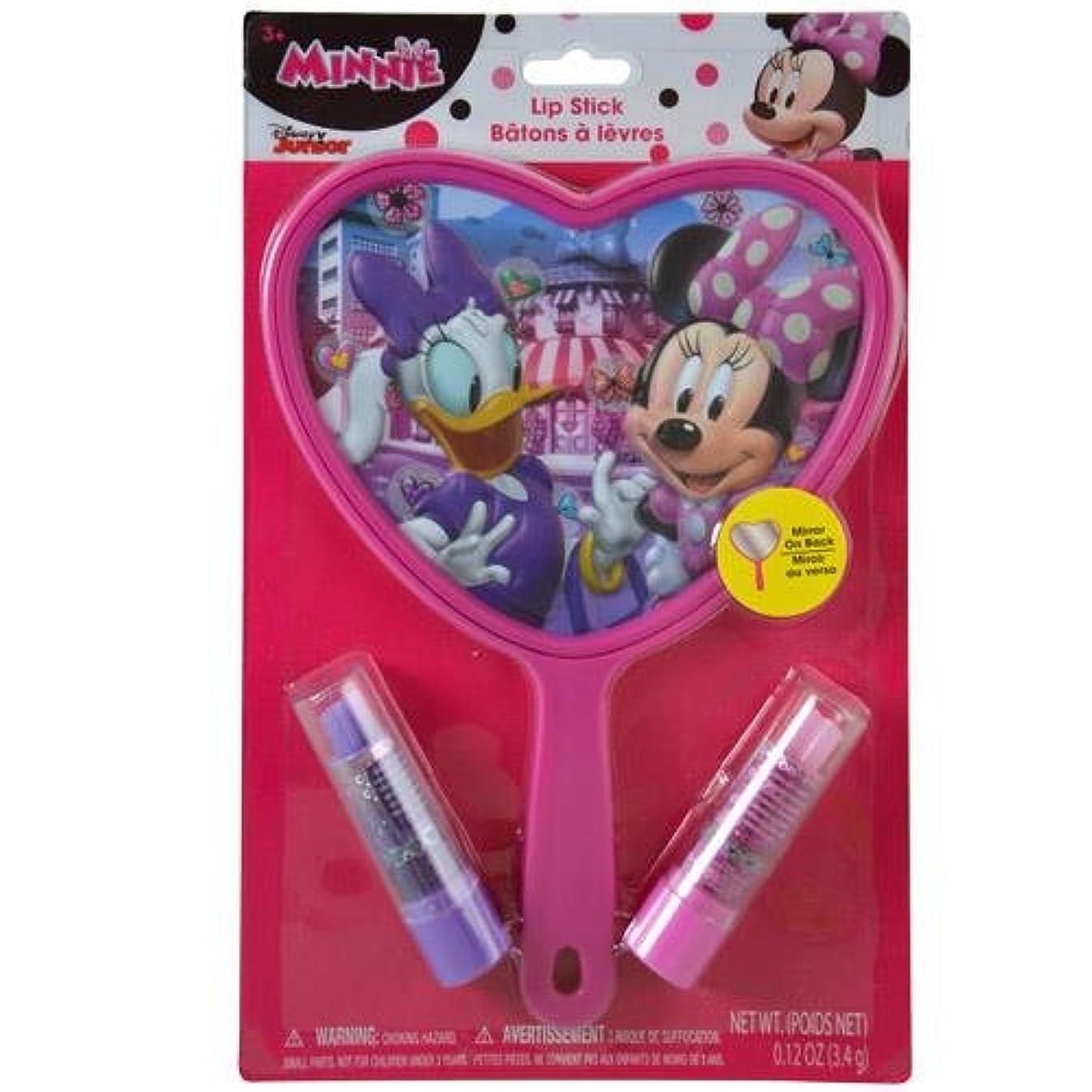 時々時々シート汗子供会 景品 ミニーマウス ミラー&リップクリーム ミニー Disney メイク メイク ハンドミラー リップ 手鏡 おもちゃ おしゃれ プレゼント ギフト 輸入品 12692*【即日?翌日発送】
