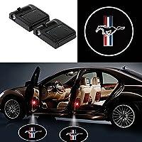 Wowlight LED ドアカーテシランプ レーザーロゴライトドアウェルカムライト カー テシライト 2件套 (Mustang)