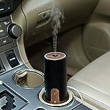 NITIUMI アロマディフューザー 車載対応加湿器 オフィス ペットボトル 50Ml 容量 超静音 小型 USB接続 空気清浄機 自動停止機能付き 【製品保証一年】 ブラック