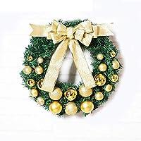 クリスマスリース、ドアハームガーランドシーンアレンジメントドレスアップクリスマスオーナメント(40x40cm)