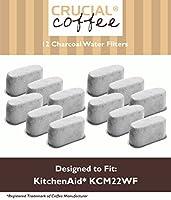 12プレミアムKitchenAidチャコールコーヒーフィルタ、フィットkcm222& kcm223水フィルタPod &コーヒーメーカー、比較パーツ# kcm22wfに、by Think Crucial