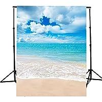 5x7ft vinyl beach blue sky summer studio photography background