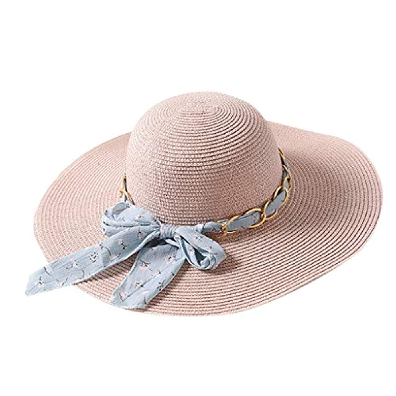 疎外好戦的な国民ファッション小物 夏 帽子 レディース UVカット 帽子 ハット レディース 紫外線対策 日焼け防止 取り外すあご紐 つば広 おしゃれ 可愛い 夏季 折りたたみ サイズ調節可 旅行 女優帽 小顔効果抜群 ROSE ROMAN