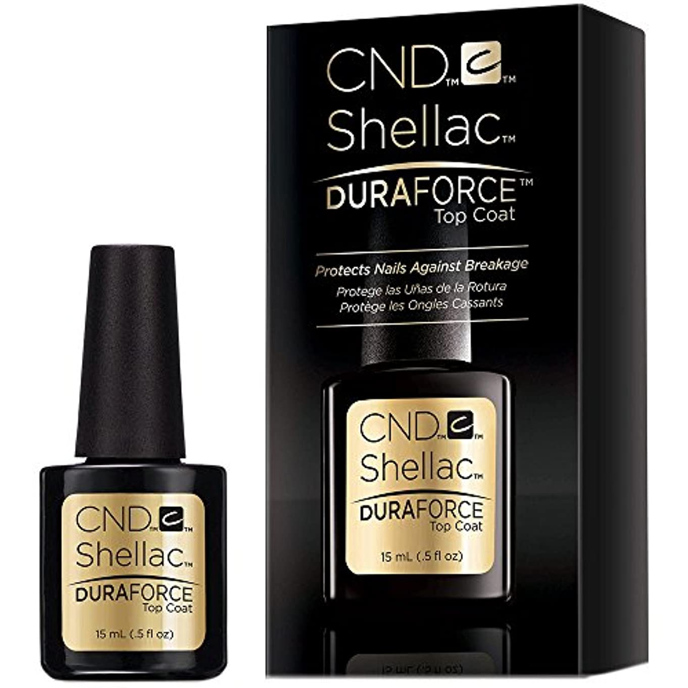 不毛のパーフェルビッド好むCND Shellac Gel Polish - Duraforce Top Coat - 0.5oz / 15ml