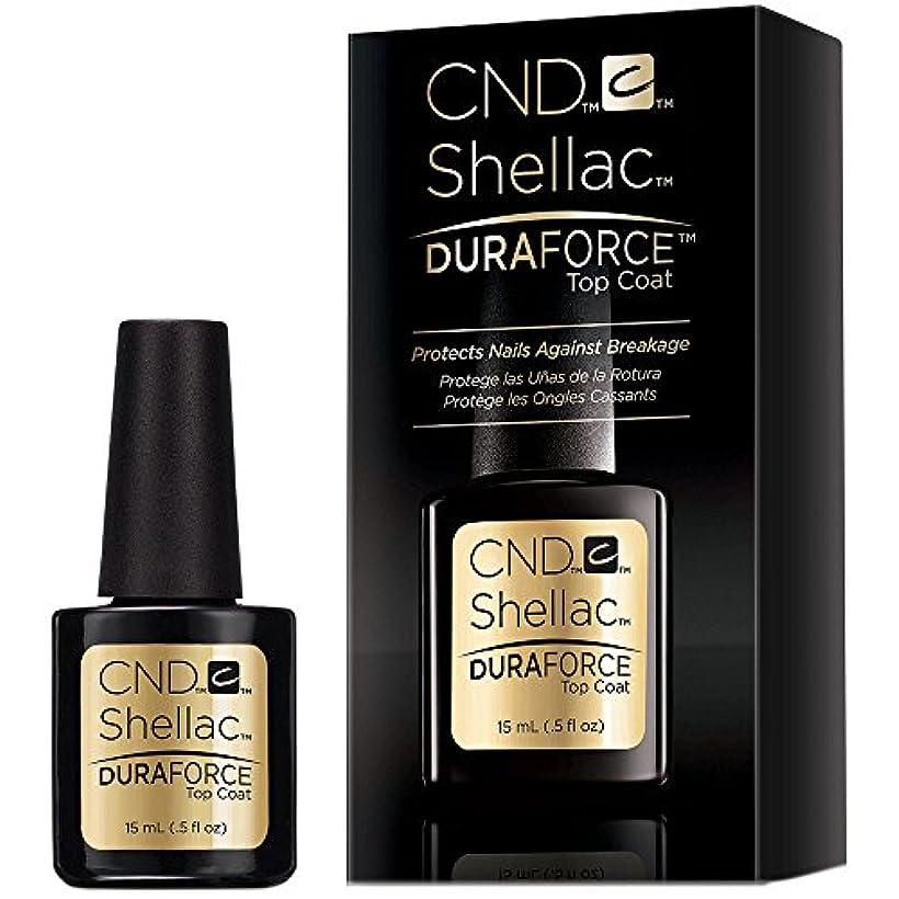サラミ望む呼吸するCND Shellac Gel Polish - Duraforce Top Coat - 0.5oz / 15ml
