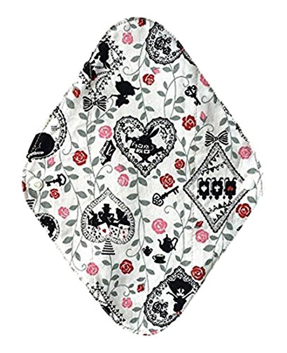 予感アシュリータファーマンクルー華布のオーガニックコットンの布ナプキンホルダー (約17×約23×約0.3cm) アリスホワイト