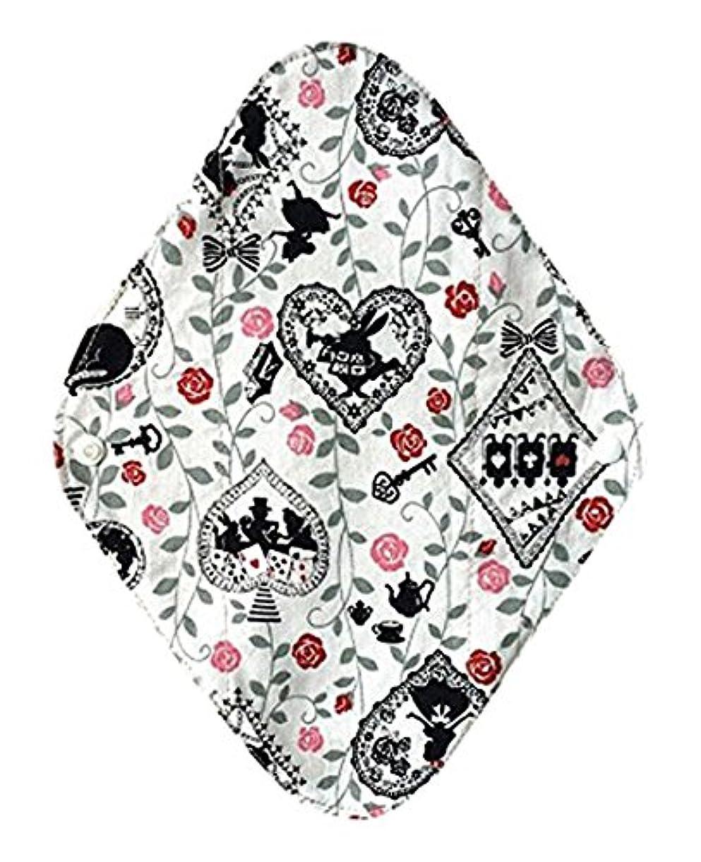 ホイットニー矢変化する華布のオーガニックコットンの布ナプキンホルダー (約17×約23×約0.3cm) アリスホワイト