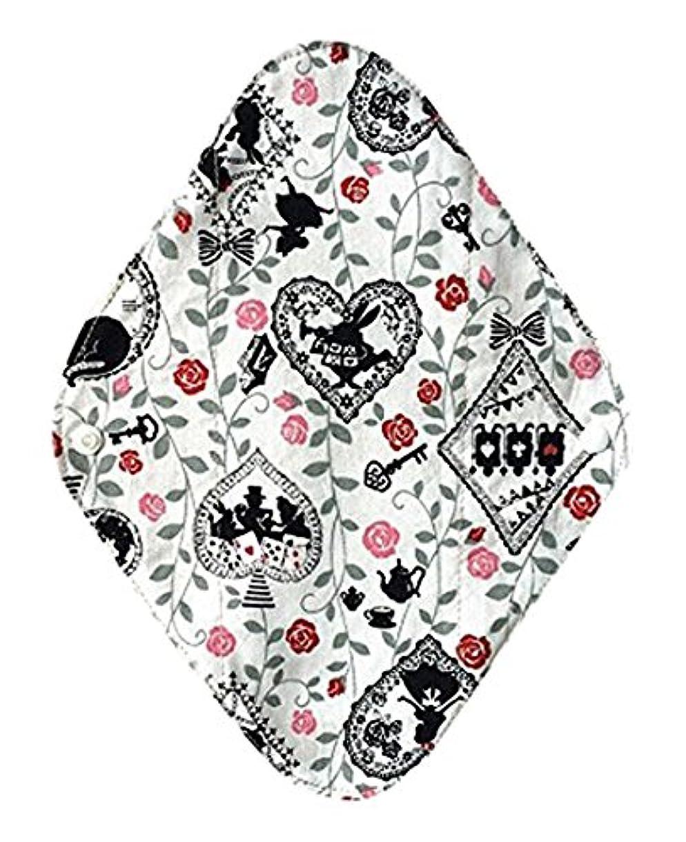 バッチ件名なくなる華布のオーガニックコットンの布ナプキンホルダー (約17×約23×約0.3cm) アリスホワイト