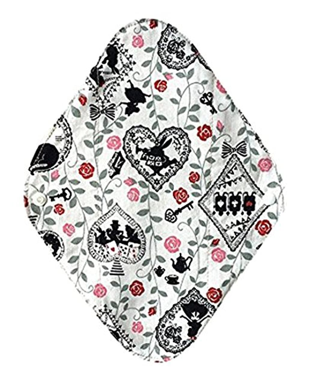 華布のオーガニックコットンの布ナプキンホルダー (約17×約23×約0.3cm) アリスホワイト