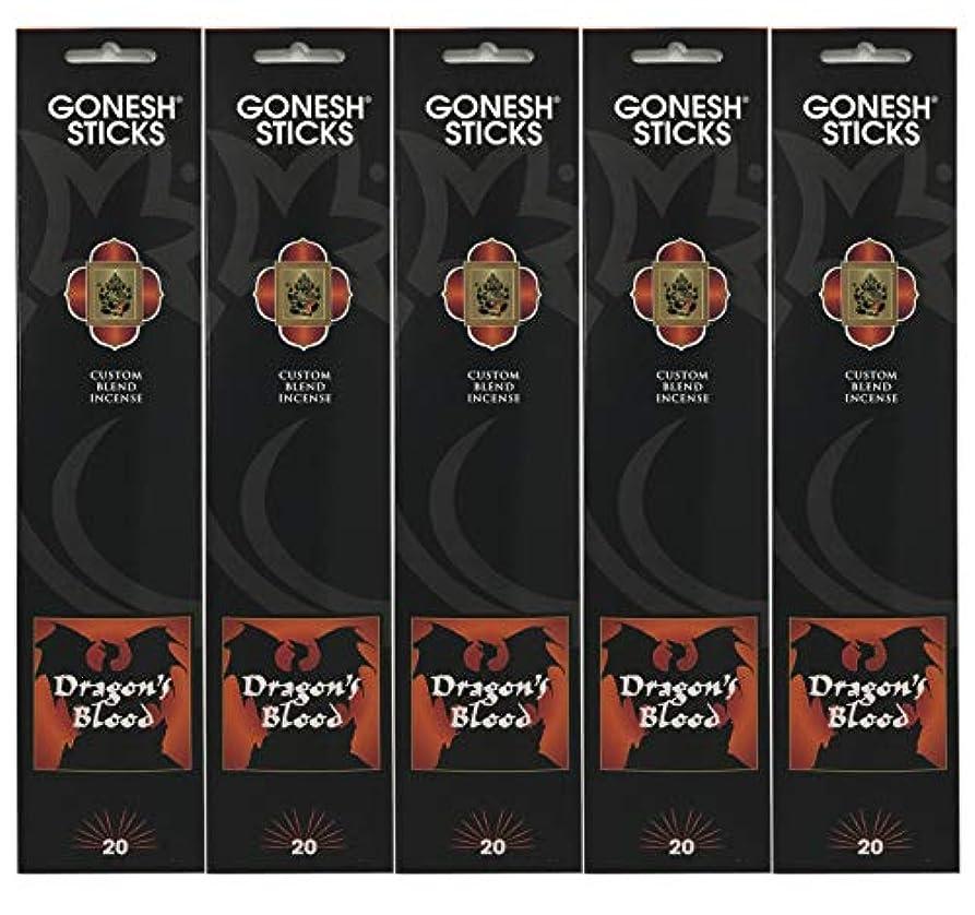 平均これまで背景Gonesh Incense Sticks Extra Richコレクション – Dragon 's Blood – 5パック(合計100 )