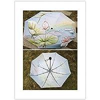 傘 四季絵画日よけファンゴッホ防水傘雨女性パラ内側接着剤なしパラソル傘男性