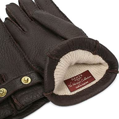 Peccary Gloves Cashmere Lined 15-1564: Bark