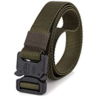 Docooler Tactical Quick Release Belt with Heavy Duty Buckle for Outdoor Camping Mountaineering Climbing Training