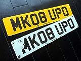 イギリス 英国 USEDナンバープレート 2枚組 MK08UPO BMW
