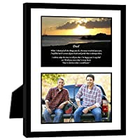 Gift for Dad - Touching Poem From Son or Daughter - Birthday or Father's Day - 8x10 Inch Frame with Mat - Add Photo [並行輸入品]