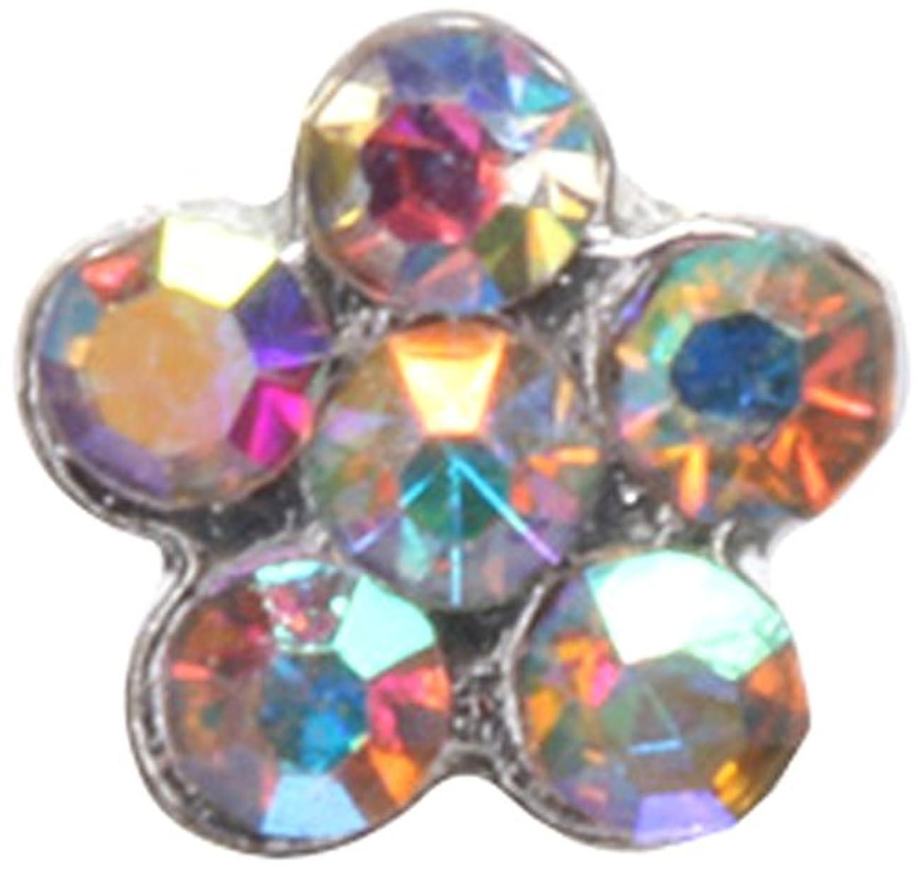 ハードリングダイヤモンド成分フラワー(5)S オーロラ(各2個) シルバー
