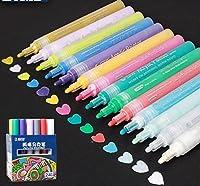 クリエイティブアクリルマーカーペン、蛍光ペン防水ハンドdiyペイントマーカーペン用用アートデザイン学校サプライヤー (12 色)