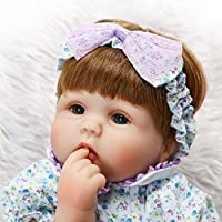 SanyDoll Rebornベビー人形ソフトSilicone 18インチ45 cm磁気Lovely Lifelike Cute Lovely Baby b0763knzth