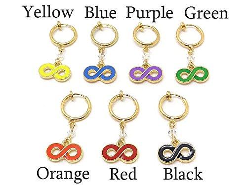 [해외]니켈 무료 7 색 전개 ☆ 무한대 마크 파이프 귀걸이 귀걸이/Nickel free 7 color expansion ☆ Infinity Large Mark pipe earrings Earring