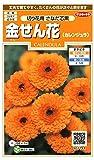 サカタのタネ 実咲花7144 金せん花 切り花用さなだ芯黒 00907144