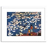 Paintings Cultural China Food Duck Pond Bird Communism Framed Wall Art Print