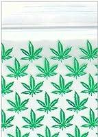プラスチック製のZIPLOCK BAGGIES 200-1.5 x 1.5マリファナの雑草の葉のロゴ小