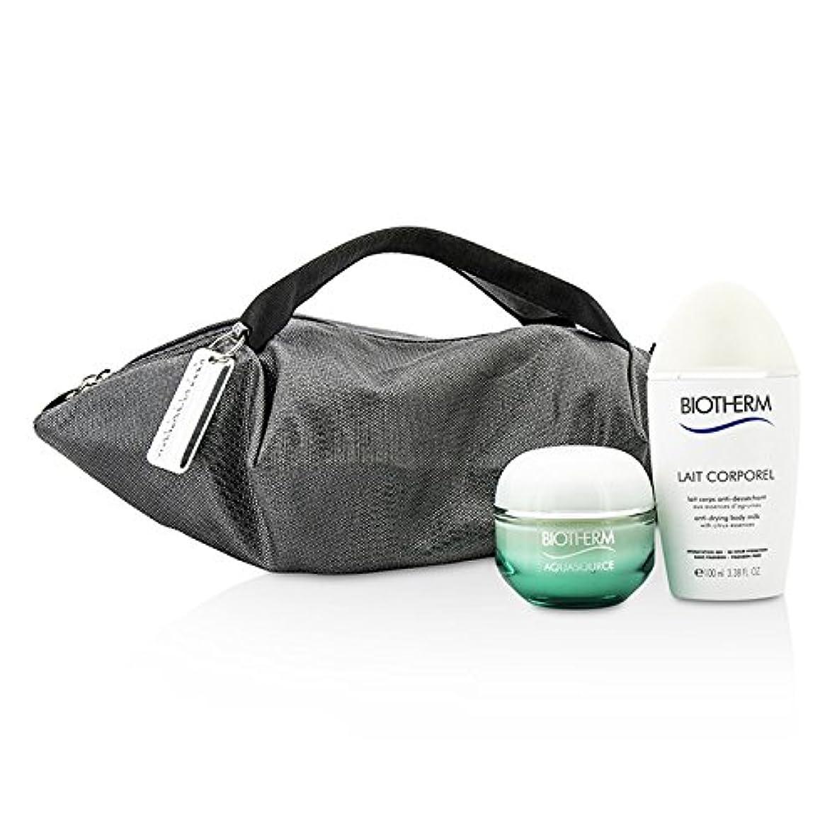 説明的フォルダホップビオテルム Aquasource & Body Care X Mandarina Duck Coffret: Cream N/C 50ml + Anti-Drying Body Care 100ml + Handle Bag...