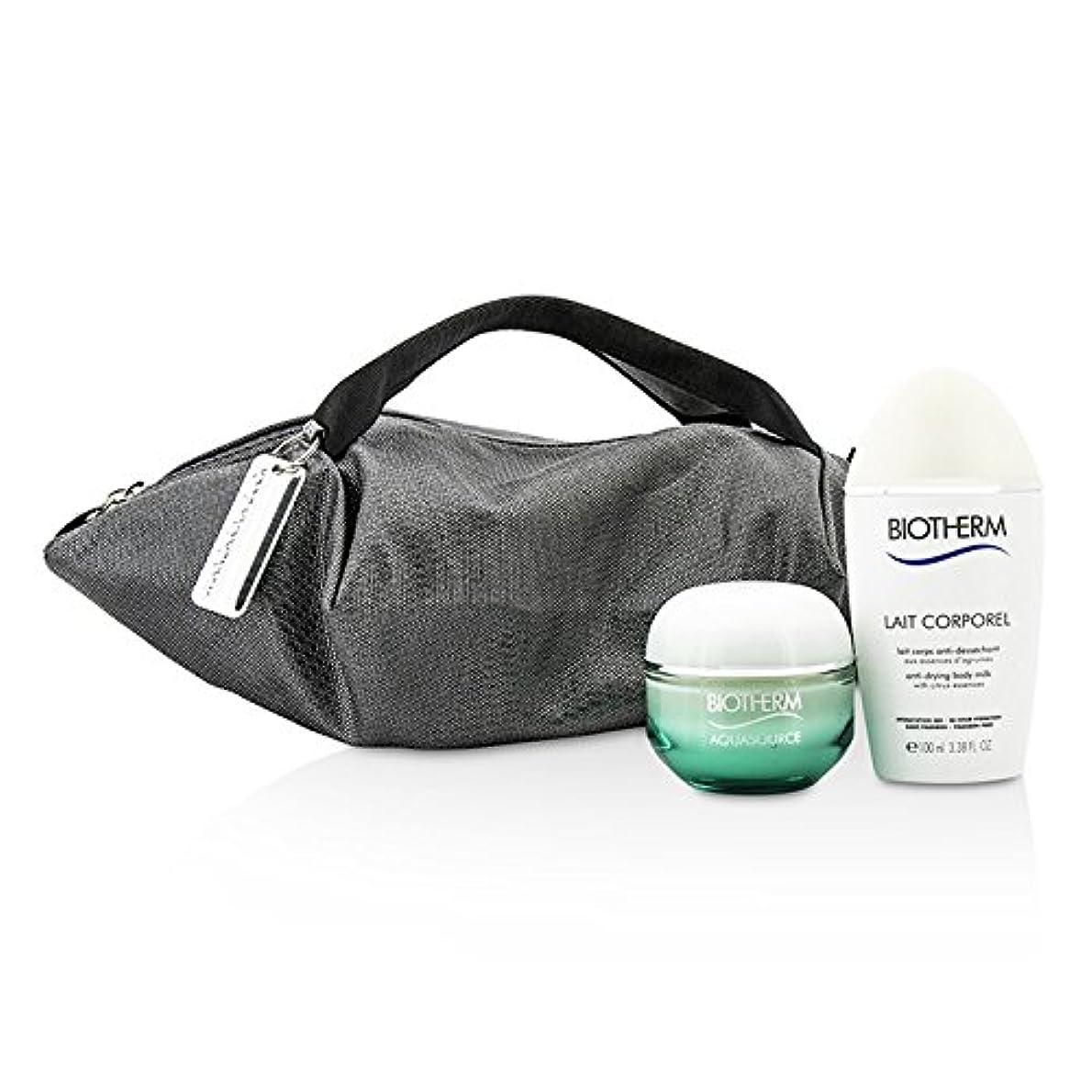 めるドライブ路面電車ビオテルム Aquasource & Body Care X Mandarina Duck Coffret: Cream N/C 50ml + Anti-Drying Body Care 100ml + Handle Bag...