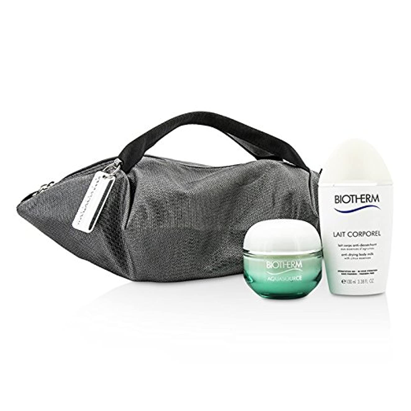 彼らはパイロットわがままビオテルム Aquasource & Body Care X Mandarina Duck Coffret: Cream N/C 50ml + Anti-Drying Body Care 100ml + Handle Bag...