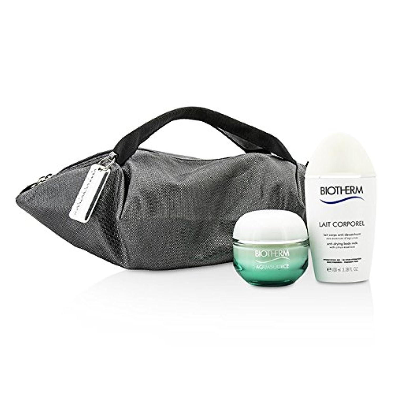 話す発生器タップビオテルム Aquasource & Body Care X Mandarina Duck Coffret: Cream N/C 50ml + Anti-Drying Body Care 100ml + Handle Bag...