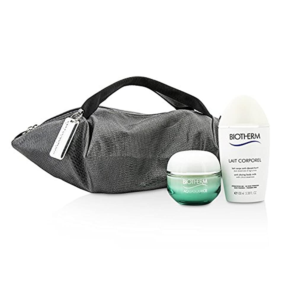 衝動コロニアルプレゼンテーションビオテルム Aquasource & Body Care X Mandarina Duck Coffret: Cream N/C 50ml + Anti-Drying Body Care 100ml + Handle Bag...