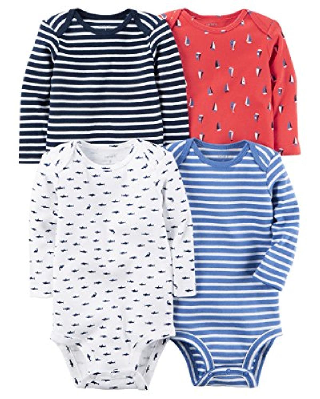 カーターズ Carter's ボディスーツ 長袖 4枚組 4-Pack Long-Sleeve Bodysuits 6M (61-67cm) [並行輸入品]