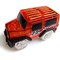 Liebeye 電気自動車のおもちゃ 子供暗闇で輝くグロートラック 驚くべき競馬レースカー(トラックは含まれません) レッド