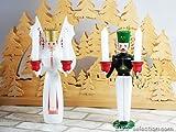 クリスマスオーナメント キャンドルスタンド 天使と鉱夫 ドイツの木のおもちゃ
