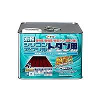 アサヒペン 水性シリコンアクリルトタン用 こげ茶 7L 【まとめ買い3缶セット】