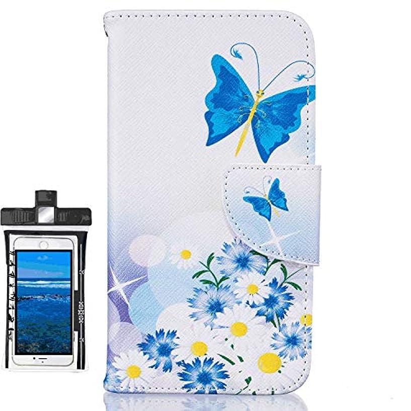 電気のレルムマーキングiPhone XS レザー ケース, 手帳型 アイフォン XS 本革 携帯ケース カバー収納 耐衝撃 ビジネス 財布 無料付スマホ防水ポーチIPX8 Absorbing