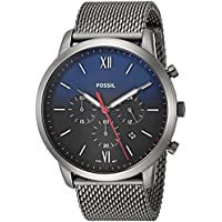 Fossil Men's Neutra Chrono Analog Quartz/Chronograph Smoke Watch, (FS5383)