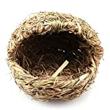 Handmade Straw Sandals Shape Pet Nest Hamster Rat Rabbit Straw Slipper Grass Warm Small Nest for Small Animals Guinea Pigs Bunnies Chinchilla Ferret