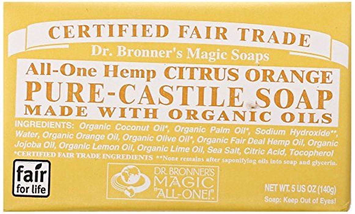 効能あるブロック主要な【ドクター ブロナー】マジックソープ バー #シトラスオレンジ 140g (並行輸入品)