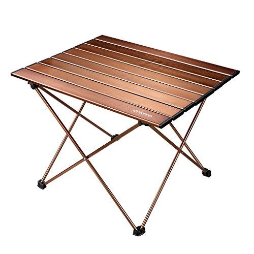 enkeeo ロールテーブル 折畳み式 アルミ製 コンパクト 軽量 収納ケース付き 持運びはラクラク ピクニック バーベキュー キャンプ お花見など用 JT-01【メーカー保証】