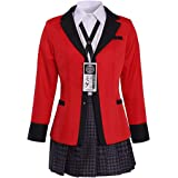 Xiao Maomi Sailor Dress Suit Outfit for Women Gambler Anime Jabami Yumeko Wig Shoes Cosplay Costume Full Set