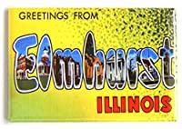 Greetings from Elmhurst Illinois冷蔵庫マグネット( 2.5X 3.5インチ)