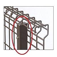 三協アルミ ユメッシュG型 フリー支柱タイプ・固定支柱タイプ共通 支柱 2010 『スチールフェンス 柵』  ブラック