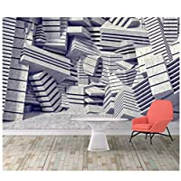 Mrlwy 壁画カスタム壁紙幾何学テレビ壁壁紙家の装飾壁紙-120X100CM