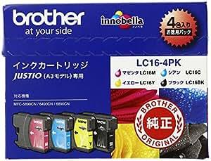 brother インクカートリッジ LC16インク4色(BK/C/M/Y)パック LC16-4PK